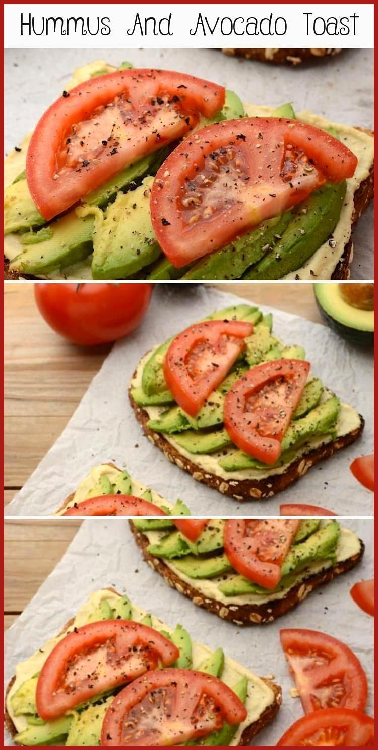 Hummus And Avocado Toast Lately I  ve been diggin  this vegan Hummus and Avocado Toast as a super s