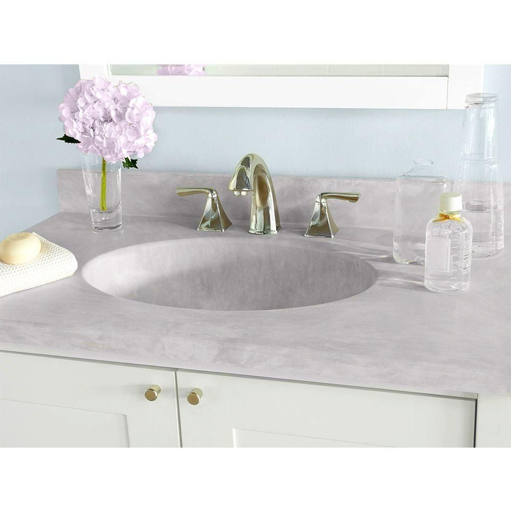 Swan Ellipse 31 In W X 19 In D Solid Surface Vanity Top With