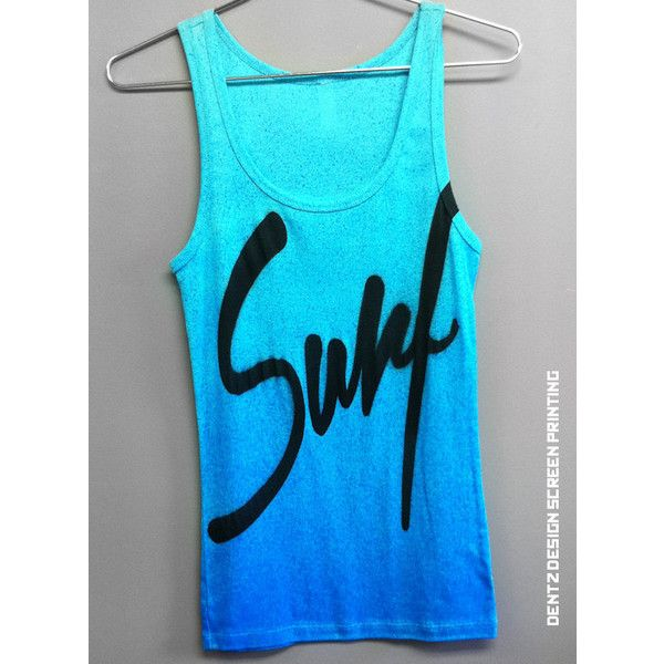 Women's Tank Surf beach island spring summer tank top clothing sand... ❤ liked on Polyvore