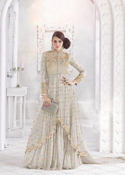 1401274f41 Pearl Grey Lehenga Pant Kameez Set   Designer Salwar Kameez in 2019 ...