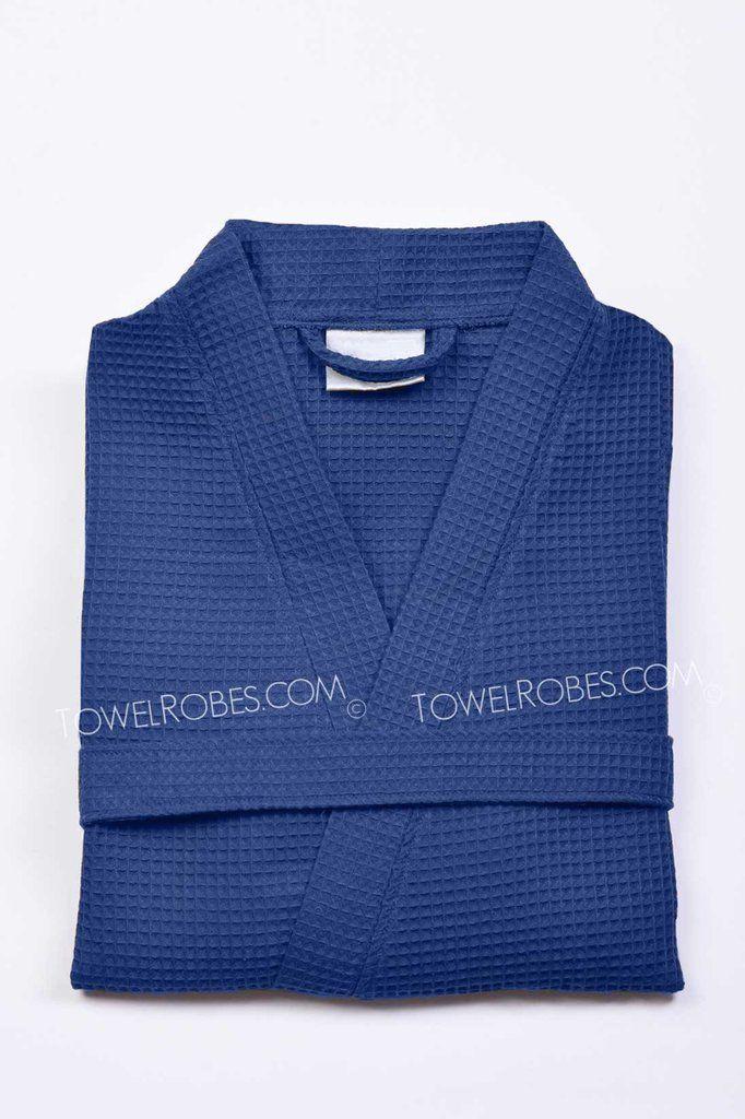 6cf95bad25 Navy Blue Short Spa Robe for Women