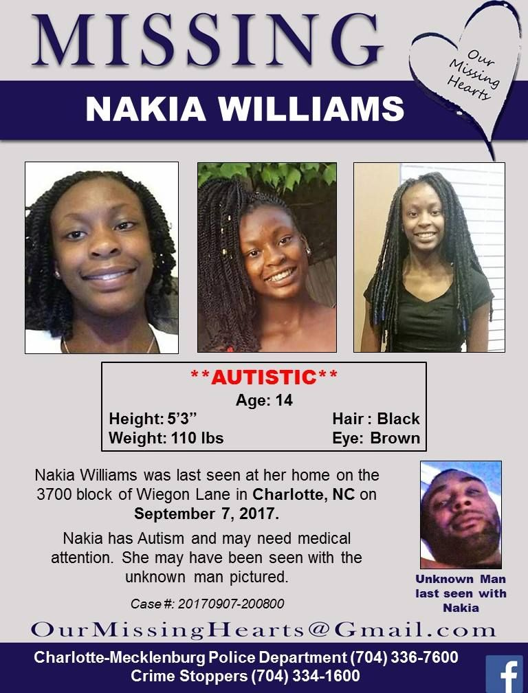 Find Missing Nakia Williams! Missing Persons Please Find Me - missing persons posters