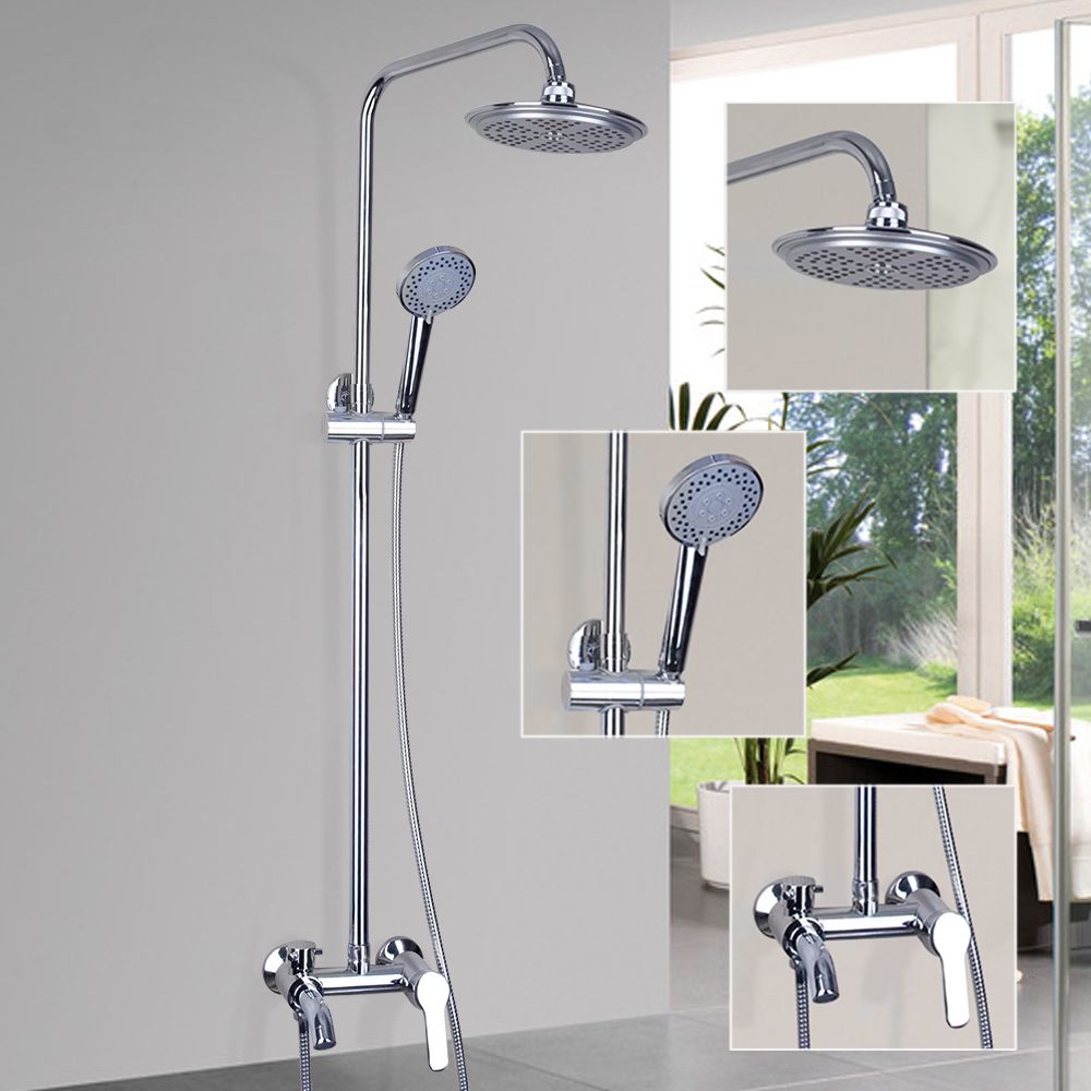 Bathroom Shower Set Brass Chrome Wall Mounted Shower Faucet 8 Pictures Gallery