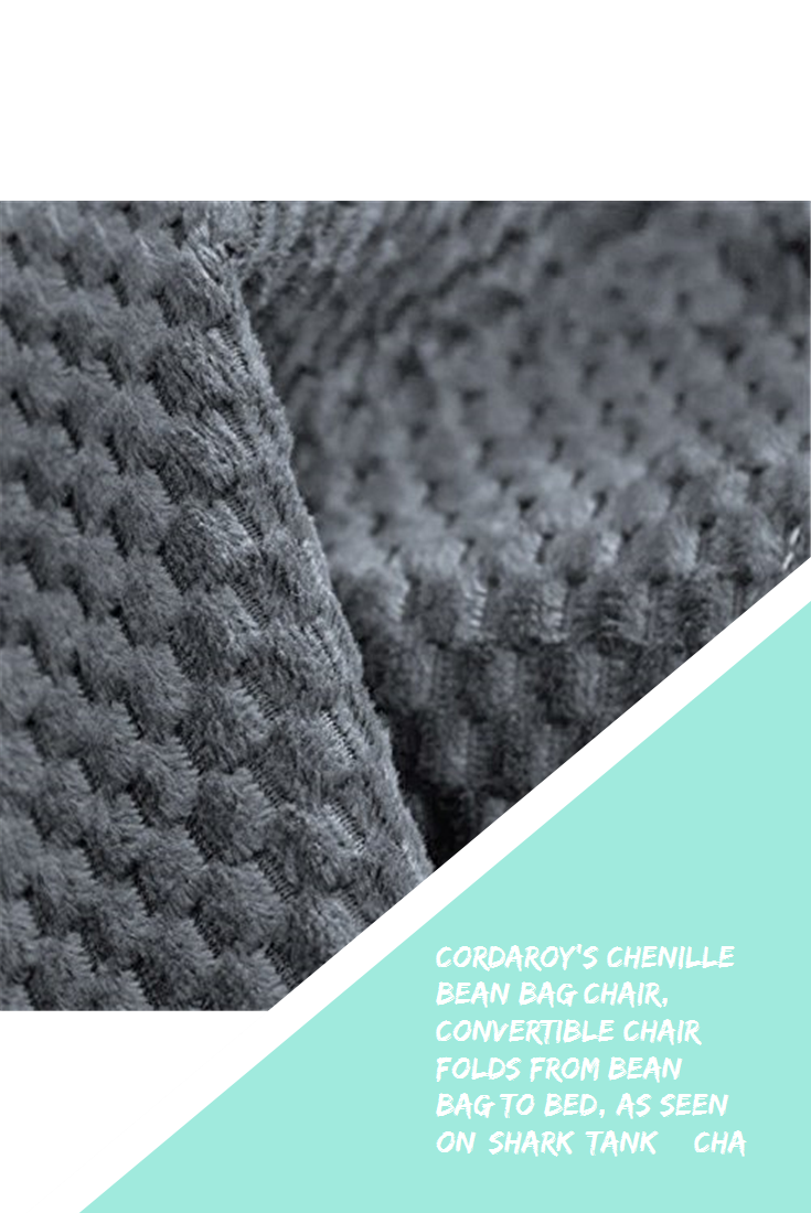 Cordaroy S Chenille Bean Bag Chair Convertible Chair Folds From