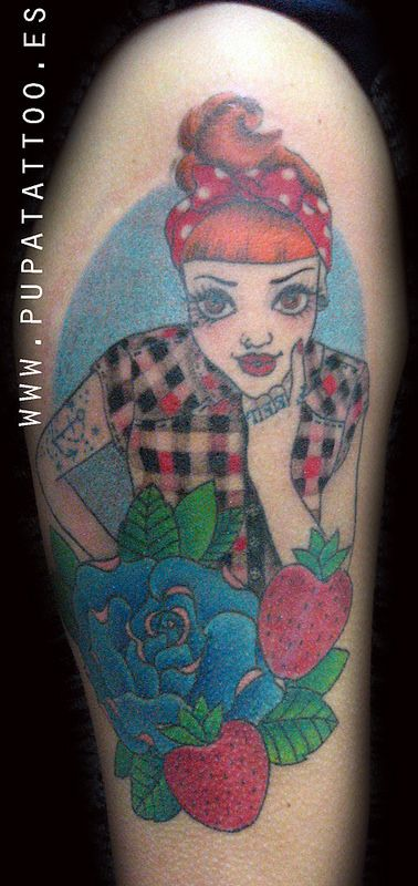 Tatuajes Pin Up tatuaje pin up, pupa tattoo, granada | old school tattoo new