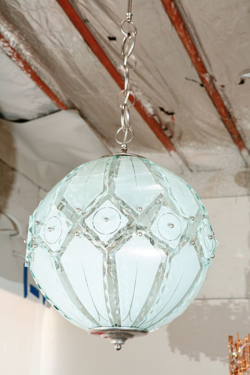 Italian globe chandelier fontana arte globe pendant lighting and