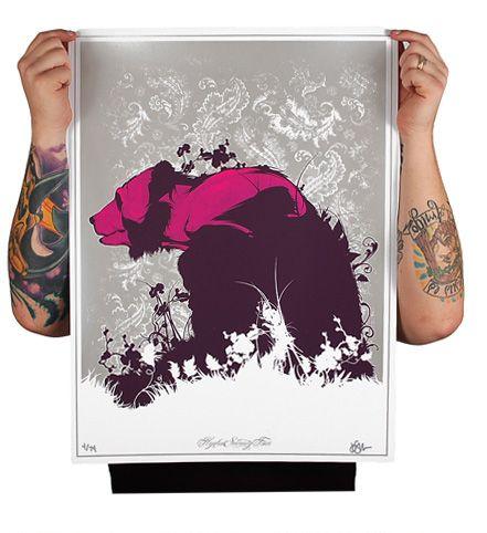 Silk Screen Art Prints by Joshua M. Smith, via Behance | Screen ...