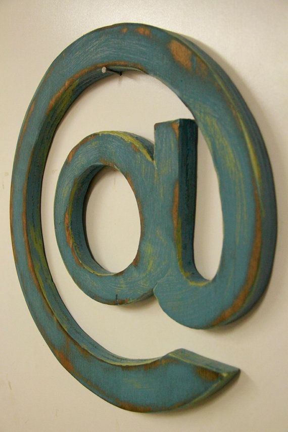At Symbol Primitive Sign Rustic At Sign Symbol Sign Letter