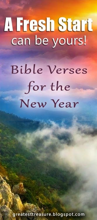 A Fresh Start ~ New Year Promises ~ Bible Verses | Christian ...