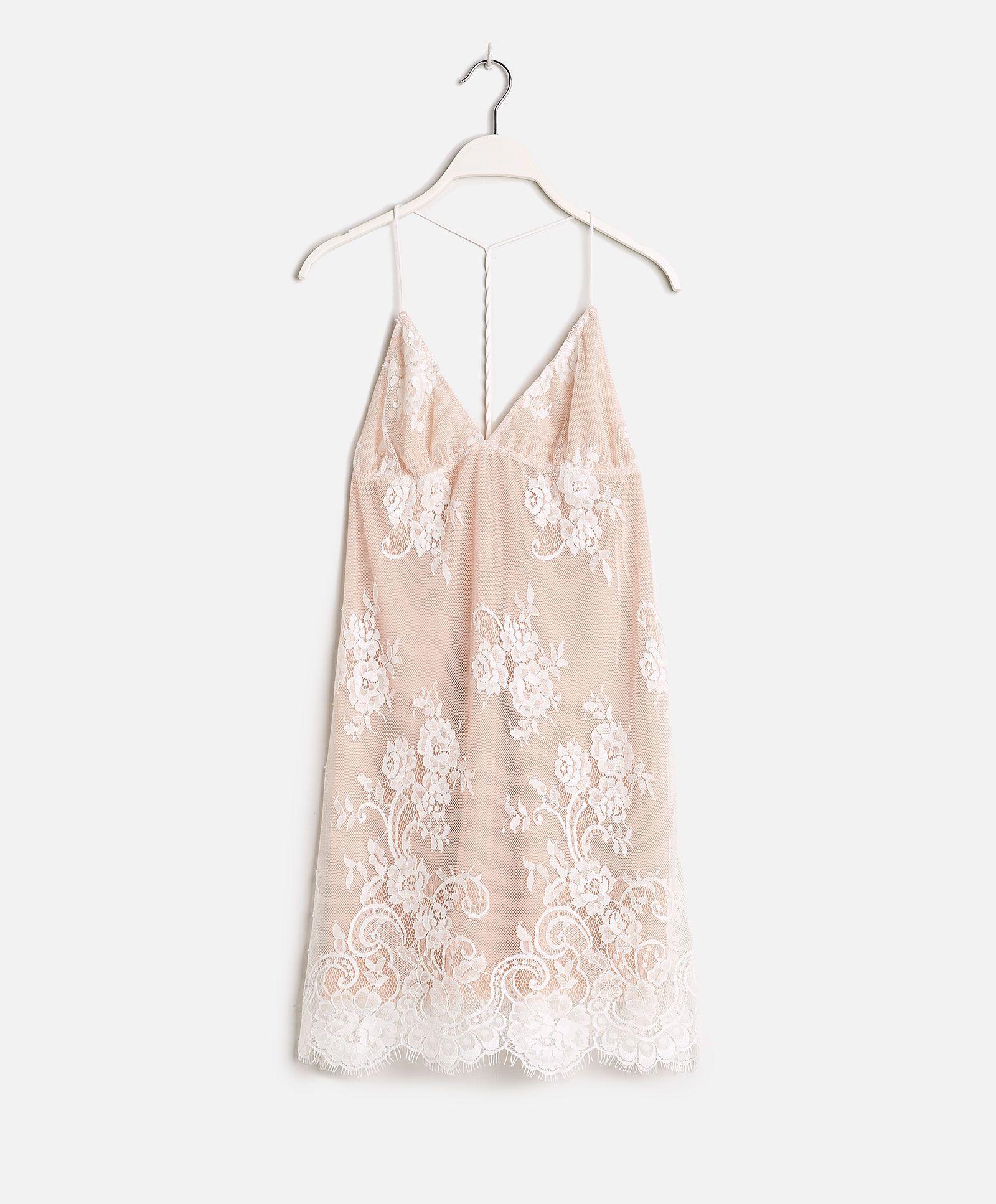 Lace dress nightwear  Lace nightdress  OYSHO  Odeca   Pinterest