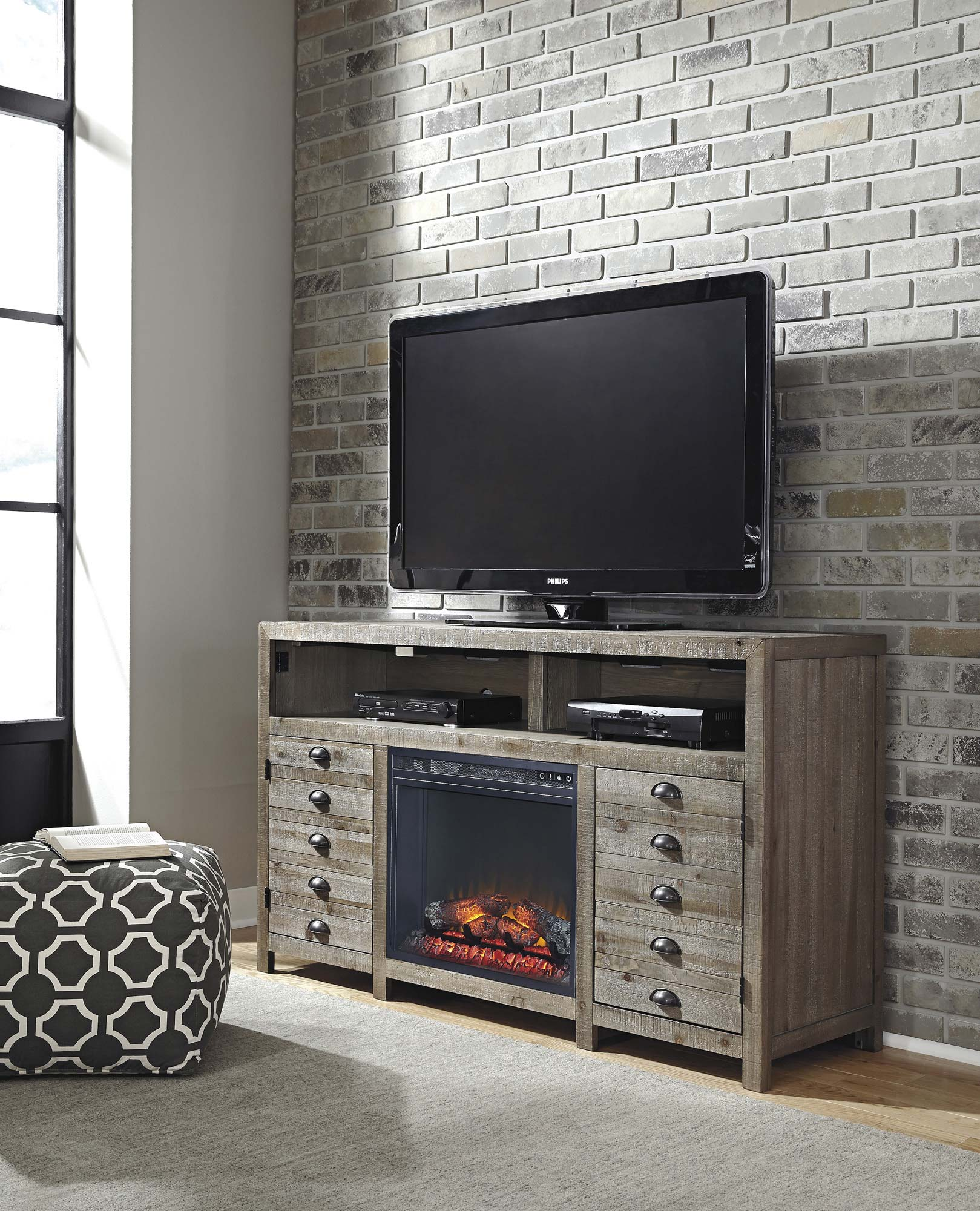 Ashley Home Furniture Albuquerque: [WANT] Keeblen TV Stand W/ Fireplace Option By Ashley