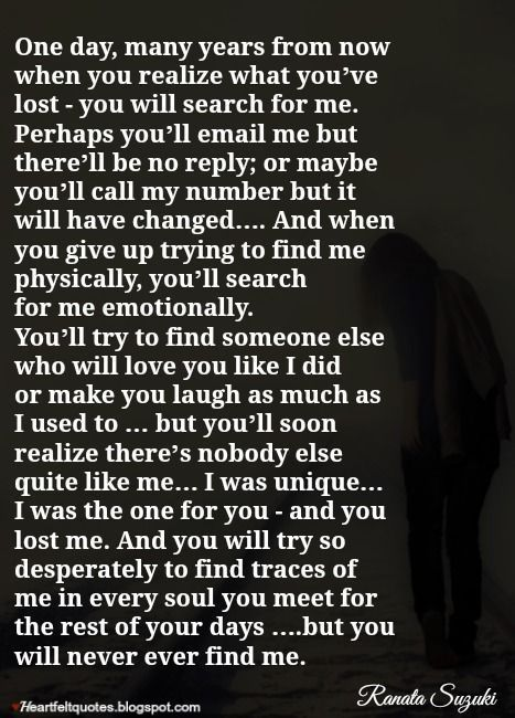 Breaking Up And Moving On Quotes One Day Many Years From Now When