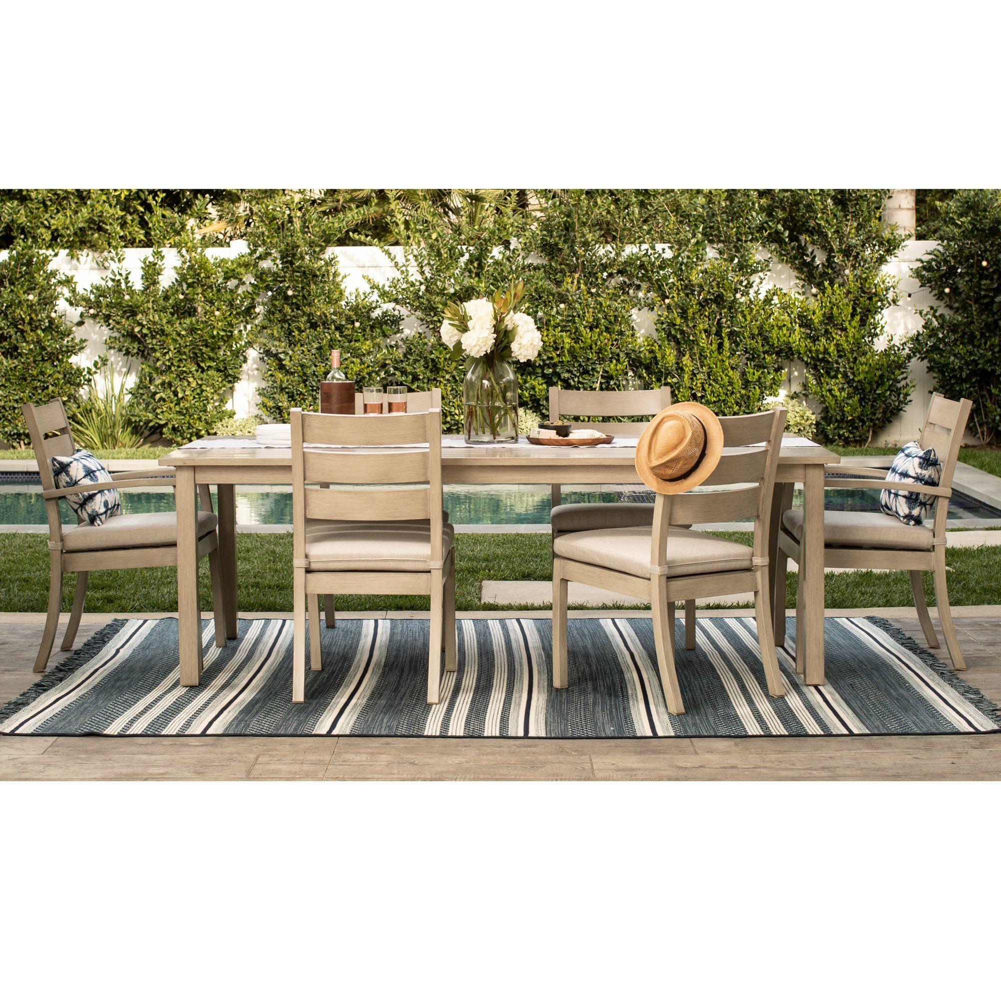 Eden 7 Piece Rectangular Outdoor Dining Set Outdoor Dining Set Furniture Sets Design Dining Furniture Sets