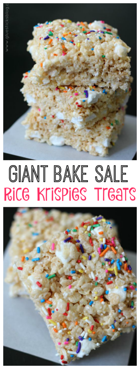 Giant Bake Sale Rice Krispies Treats With Extra Mini Marshmallows