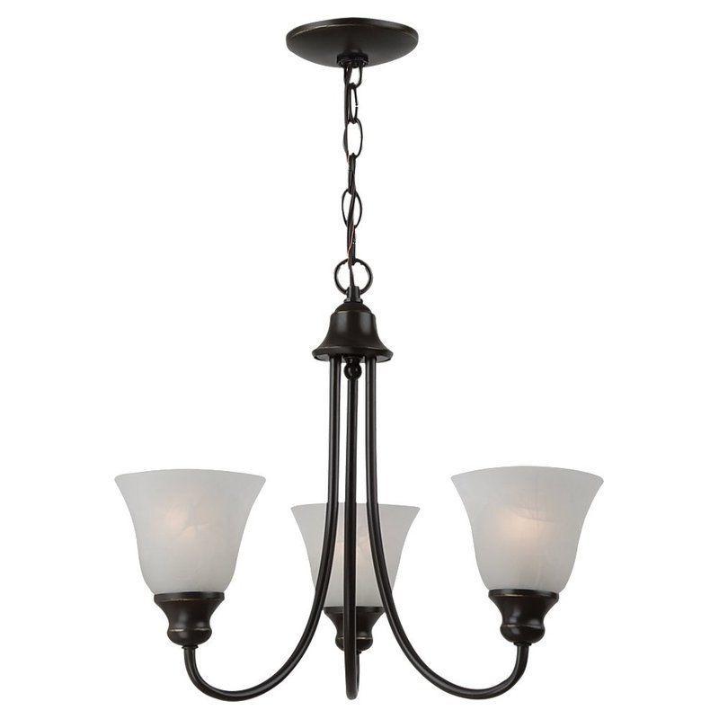 Sea Gull Lighting 35939 Windgate 3 Light 1 Tier Chandelier Heirloom Bronze Indoor Lighting Chandeliers