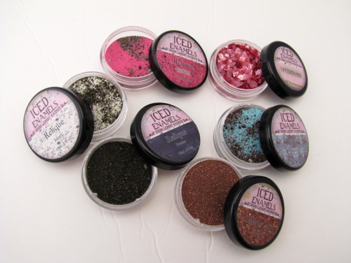 ICED Enamels- like embossing powder for METALS!!! Cool stuff and an video demo.