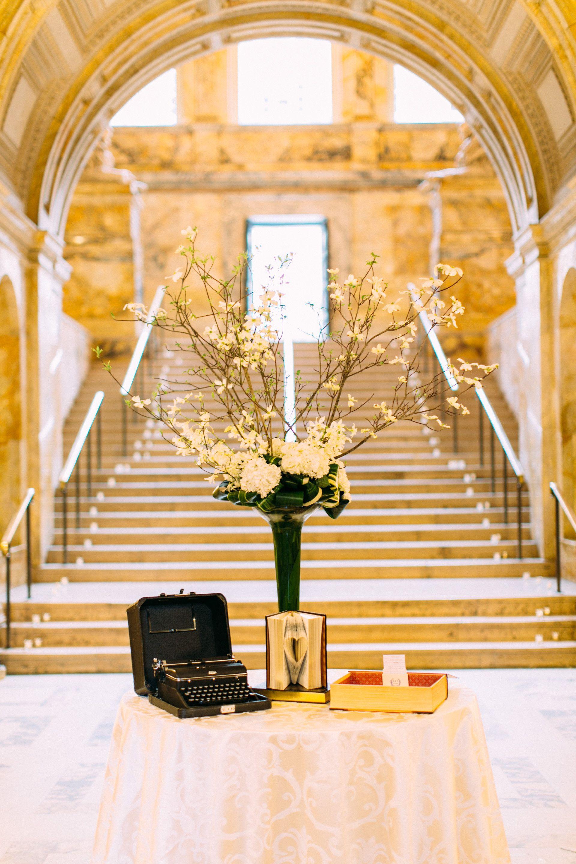 Elegant Wedding in the Boston Public Library