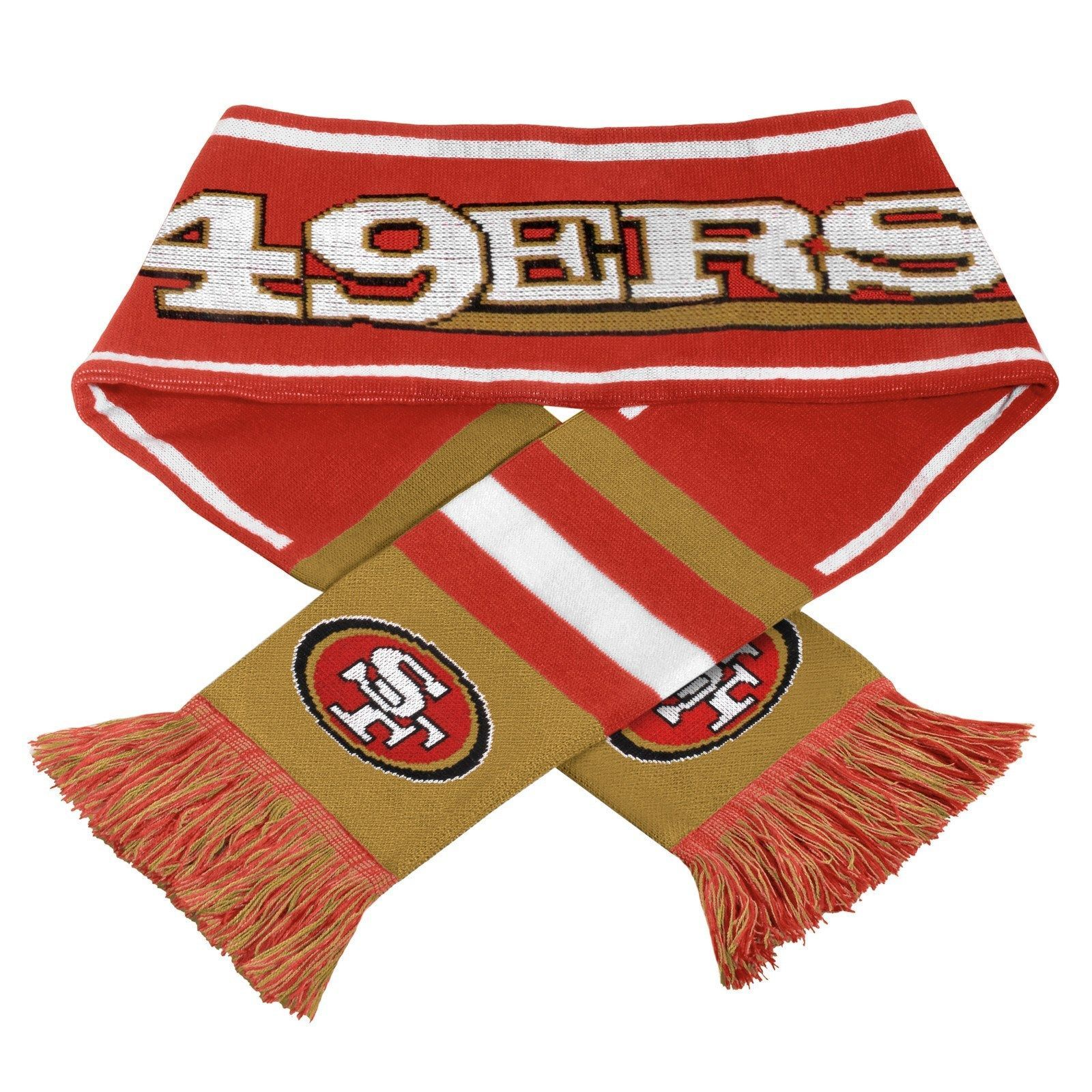 "San Francisco 49ers Scarf Knit Winter Neck NEW NFL 65"" - Wordmark Team Logo 2013"