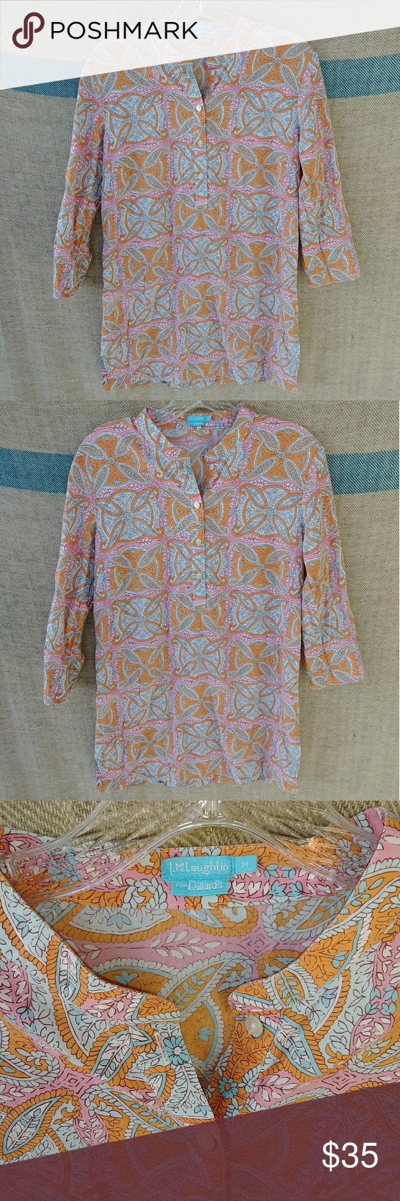 bcb5ad57e10 J.McLaughlin for Dillards paisley tunic top medium Excellent condition. No  flaws. Don't be afraid to Make offers on items you want. Send Offers, Get  DEALS!