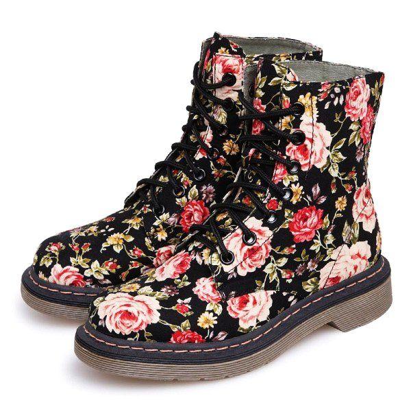 Floral Dr. Martens Boots | DR MARTENS | Pinterest | Floral dr ...