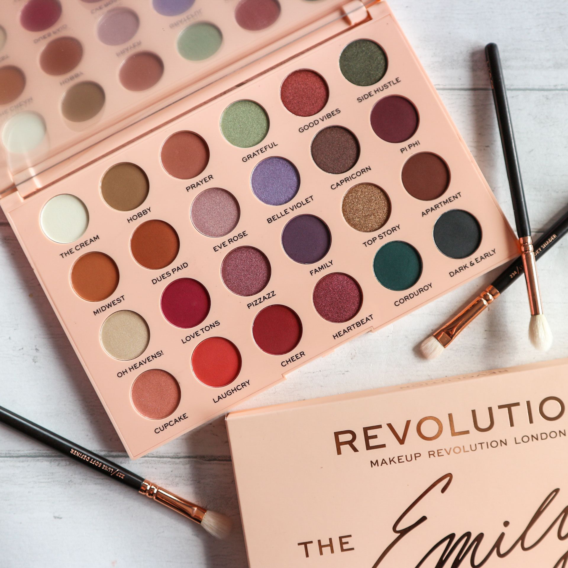 Review and Swatches of the Makeup Revolution x