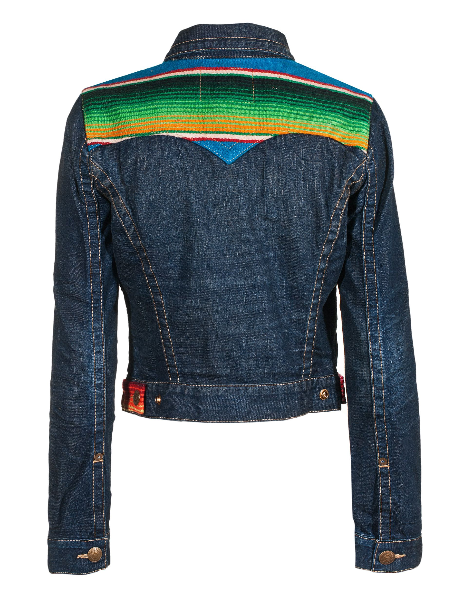 TRUE RELIGION Jada Baja Retro Iron Horse Patterned denim jacket - Jackets & Coats