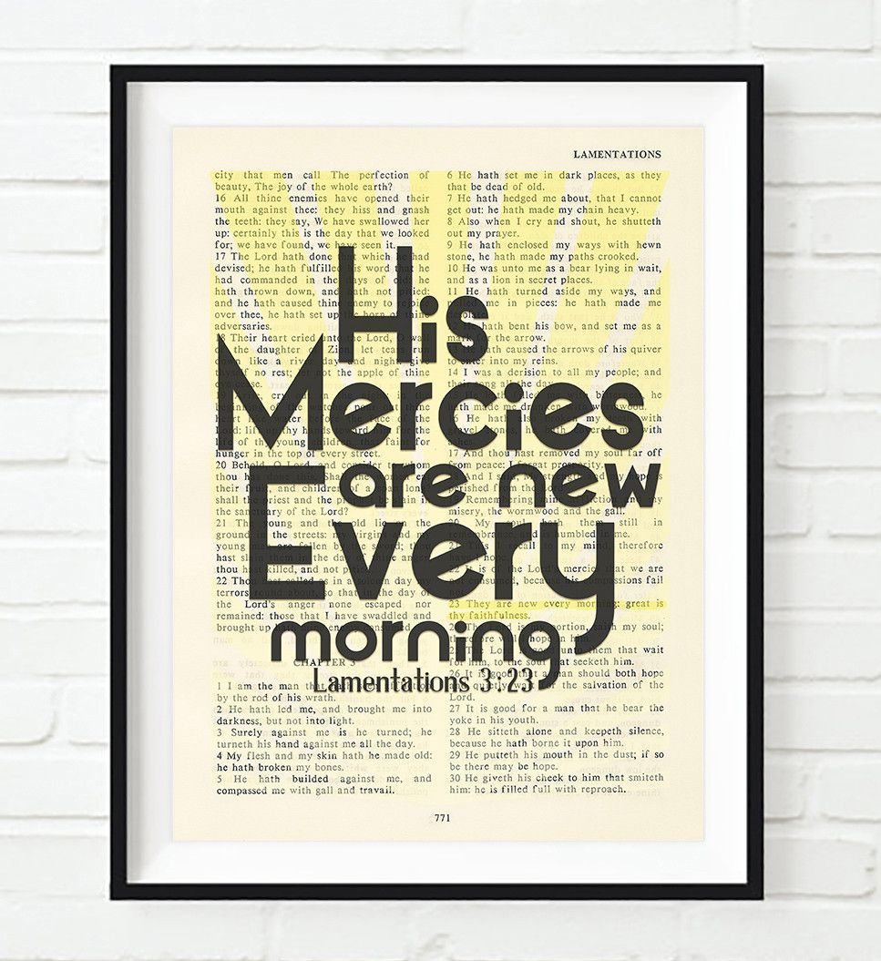 Strength Quotes From The Bible His Mercies Are New Lamentations 323 Vintage Bible Highlighted