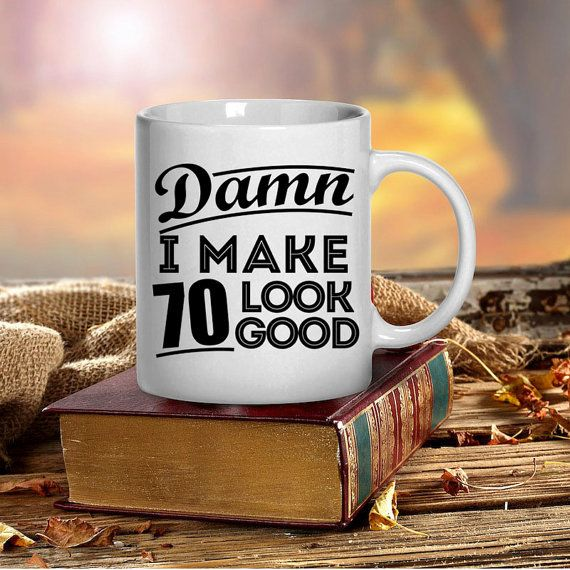 70th Birthday Gift Mug Mugs 1946 Gifts Unique Coffee Tea Cup Present Him Her Party Ideas
