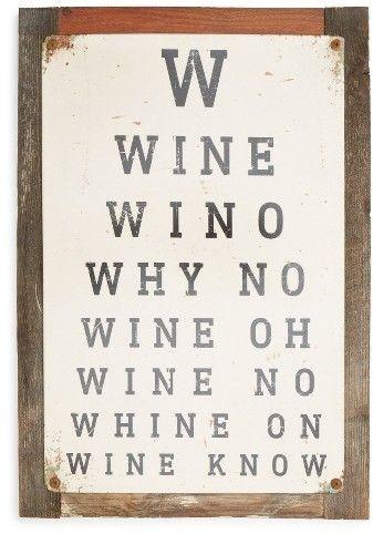 Poncho Goldstein Wine Eye Chart Sign Gift Ideas Pinterest