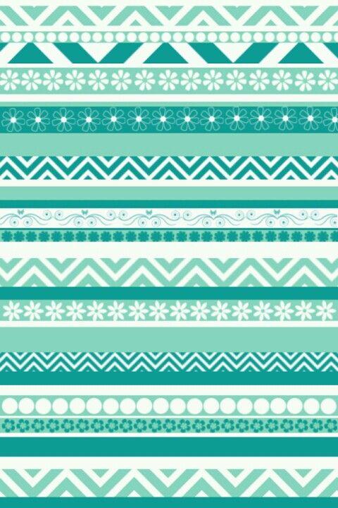 green blue aztec wallpaper ♥♥