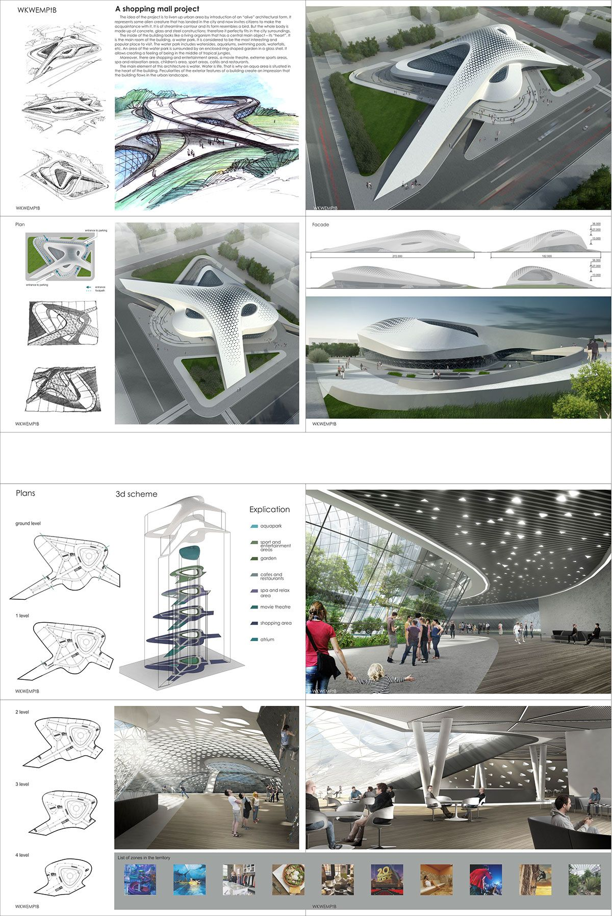 A shopping mall project on Behance | Axialeo office