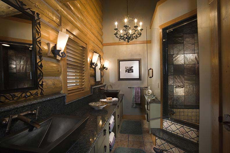 classy sophisticated luxury bathroom suite rocky mountain log homes