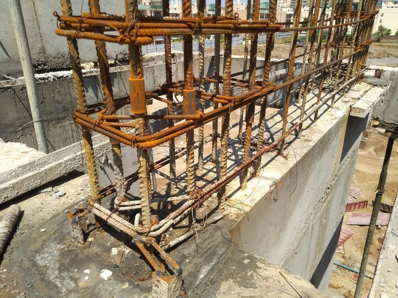 Photo About Shear Wall Reinforcement Provided Construction Site Image Of Reinforcement Wall Site 14529047 Construction Site Construction Home Construction