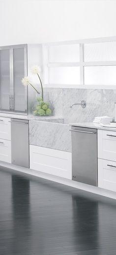 Spotless. #Kitchen marble sink