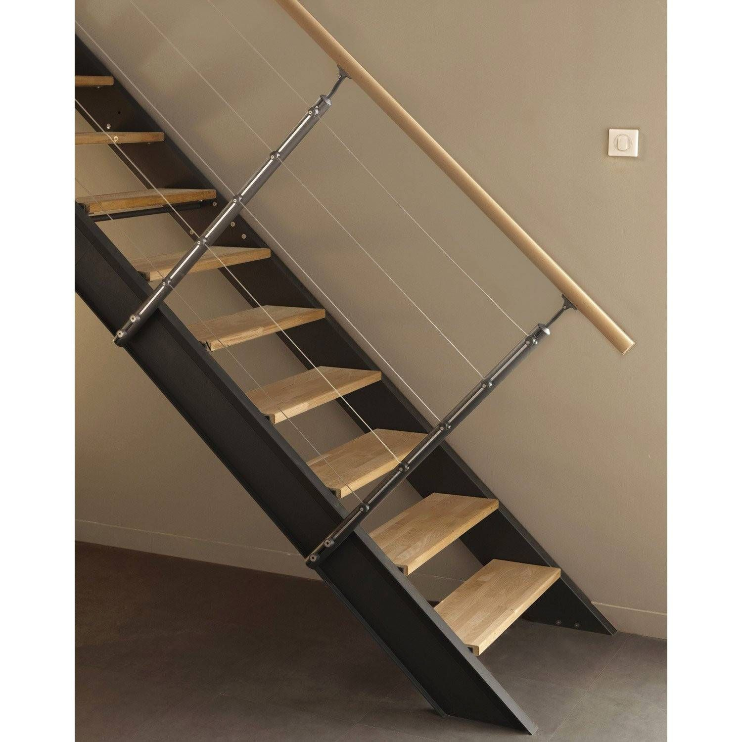 Escalier Exterieur En Kit Leroy Merlin Rampe Corde Escalier Castorama In 2020 Home Decor Decor Stairs