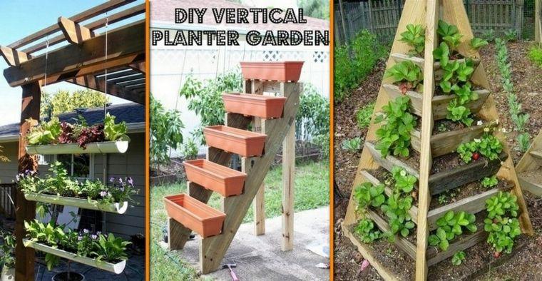 Jardineras verticales - ideas sencillas para colgar plantas - jardineras verticales