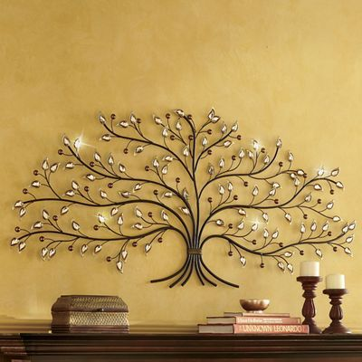 Jeweled Tree Wall Art With Images Metal Tree Wall Art Tree Of