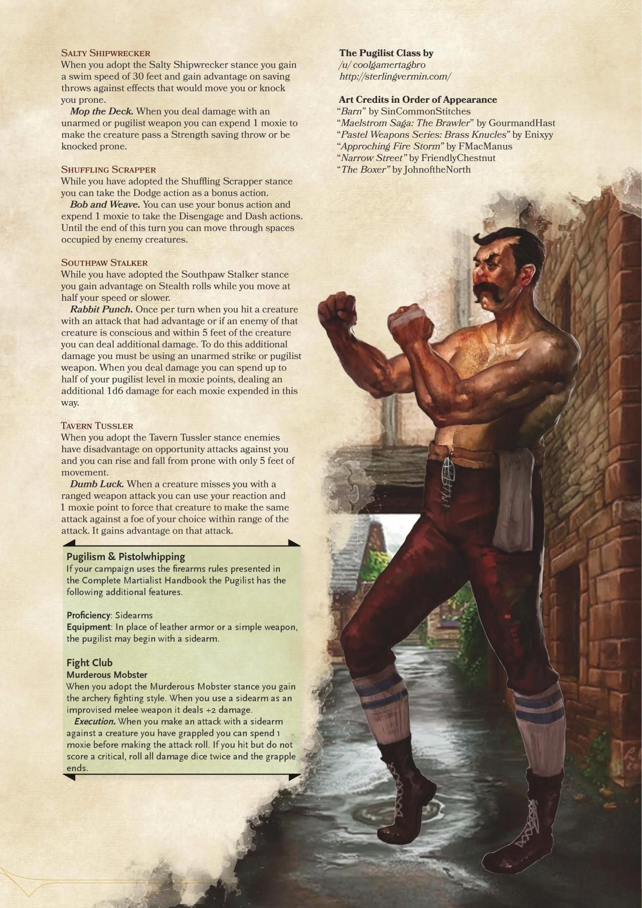 Pugilist Class by coolgamertagbro | Dnd in 2019 | Dnd 5e homebrew