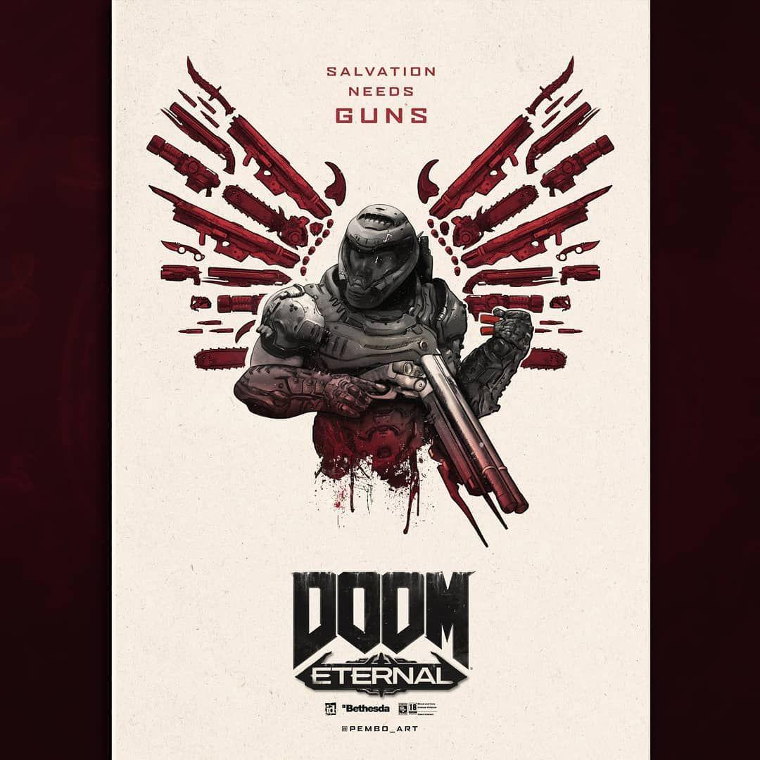 DOOM Eternal in 2020 Doom, Doom game, Gaming posters