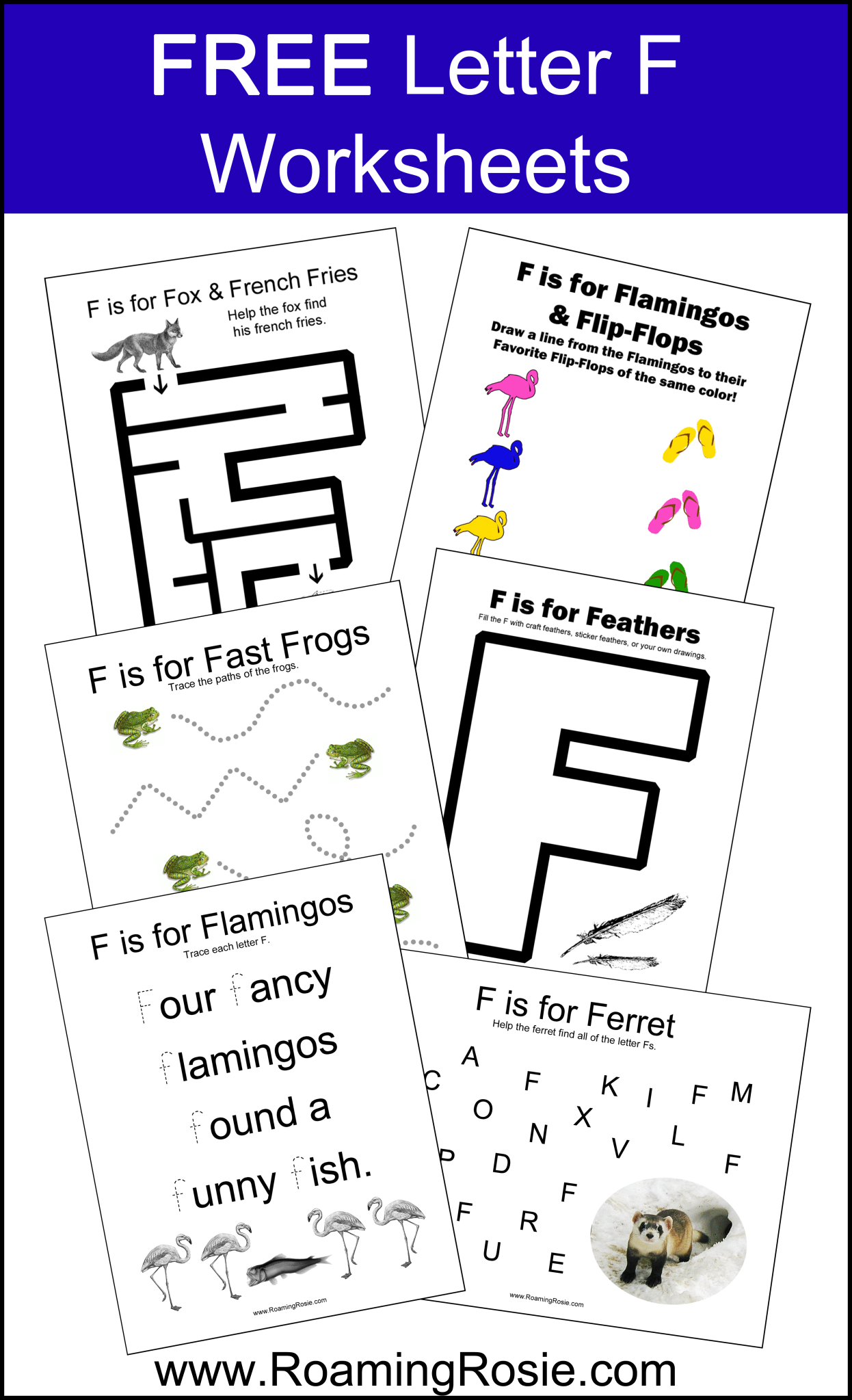 Free Printable Letter F Alphabet Activities Worksheets At