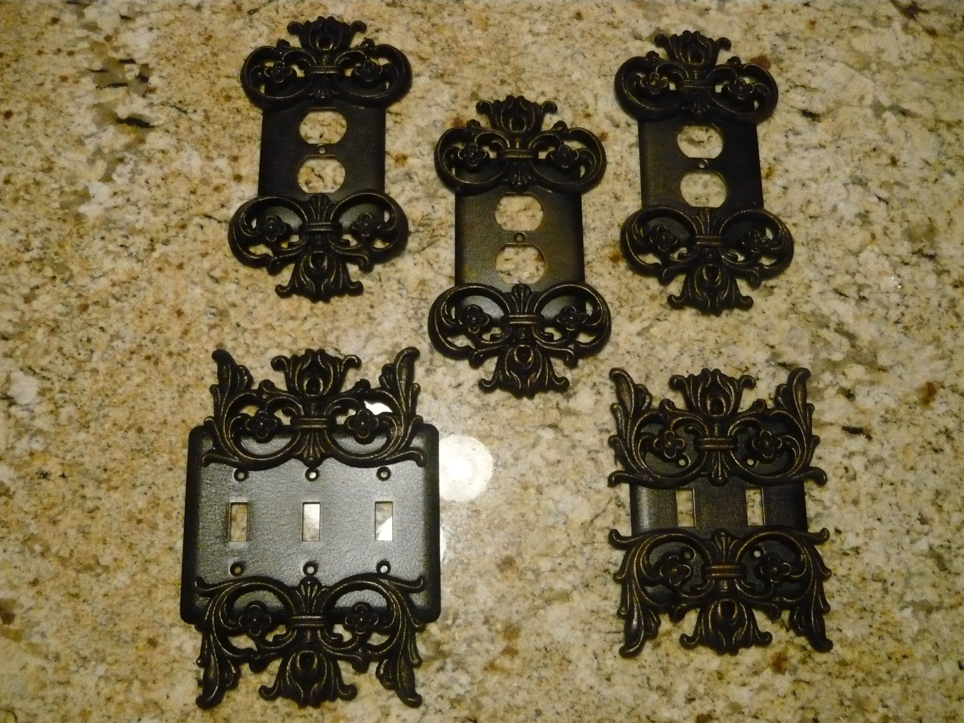 Gold Outlet Covers Metal Outlet Covers Triple Light Switch Cover And Double Light