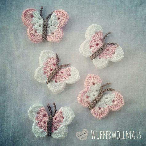 Schmetterlinge häkeln *Kostenlose Häkel-Anleitung*   Häkeln ...