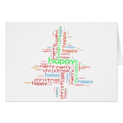 Christmas Card Templates Word Christmas Cards Shaped Word Cloud  Word Clouds