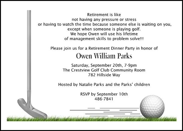Time for Golf Retirement Party Invites number 7808IBURI – Retirement Party Invitations Online
