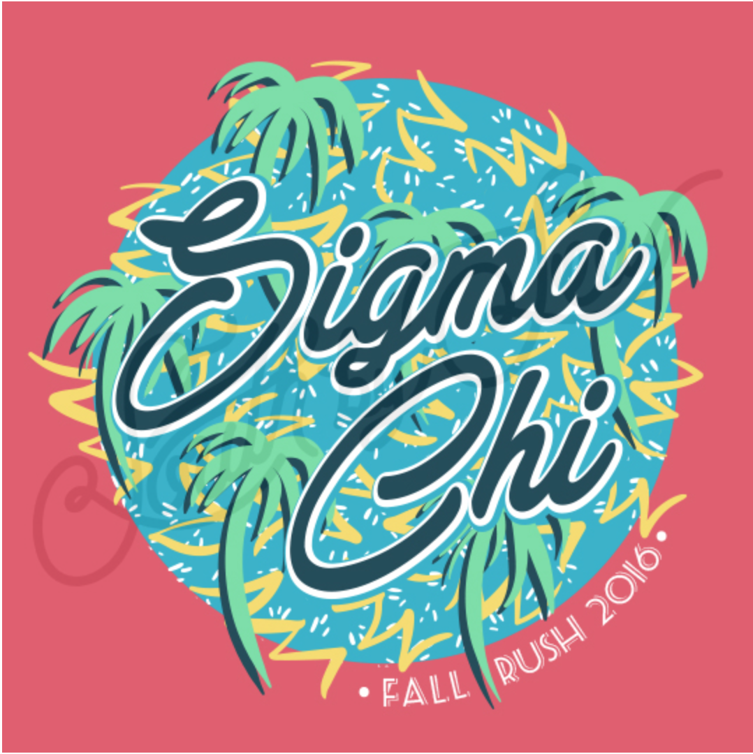 Sigma chi fall rush 2016 fraternity rush tropical for Fraternity rush shirt ideas
