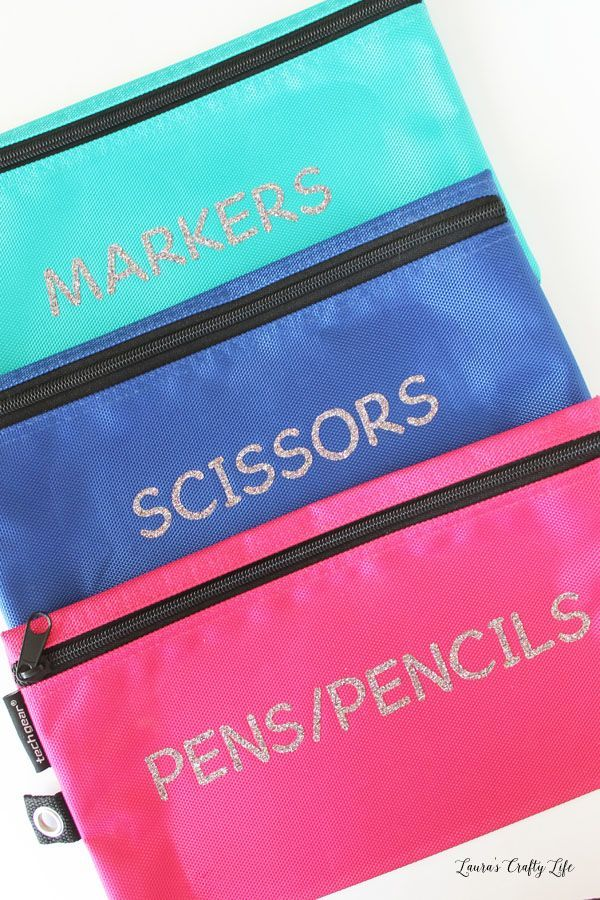 Organized Art Supply Pouches Art Supply Organization Supplies Pouch Adhesive Vinyl Projects