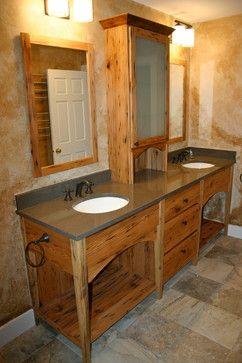 Rustic Master Bathroom….Vermont Green Mountains - farmhouse - Bathroom - Boston - Dufour Design LLC