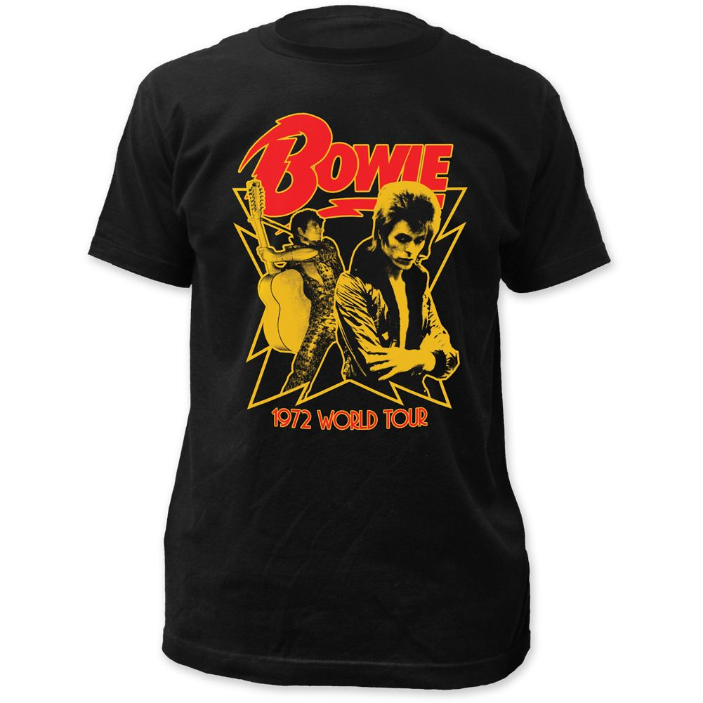 David Bowie Concert T Shirt David Bowie 1972 World Tour Men S Black Vintage Shirt Concert Tshirts Tour T Shirts Mens Tshirts