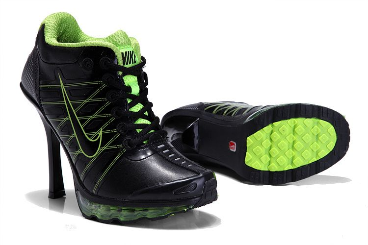 Nike Heel Trainers Uk Air Cushion High Heel Shoes Black Green