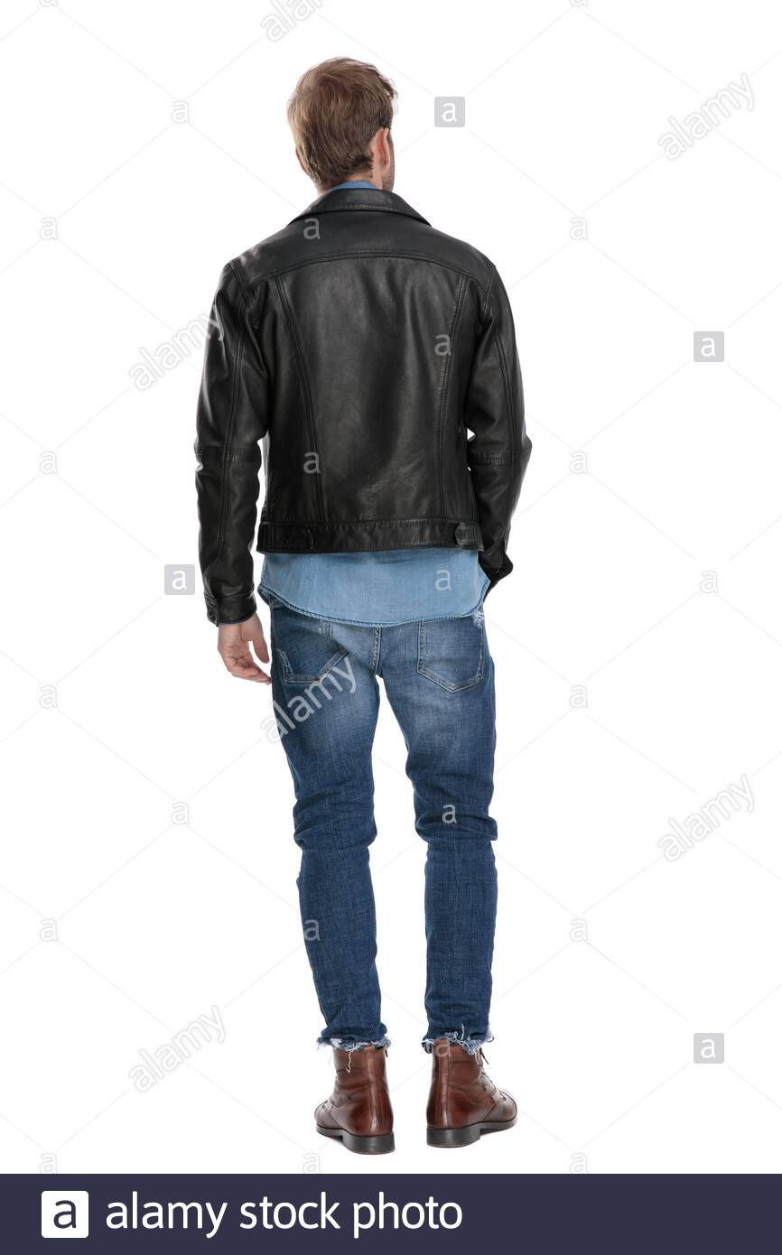 Man Wearing Leather Jacket Back View Reference Leather Jacket Jackets How To Wear [ 1390 x 866 Pixel ]